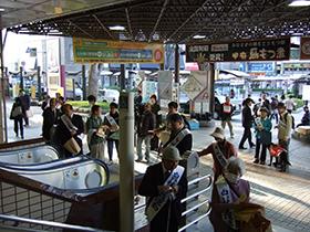白い杖街頭キャンペーンの写真